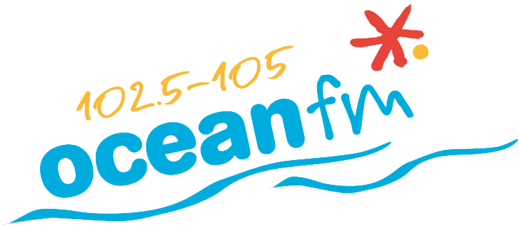 Ocean FM logo with white background